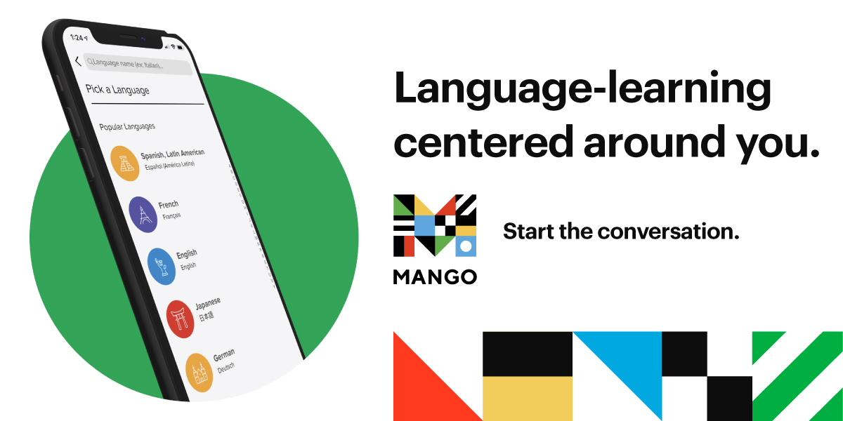 Mango Languages Banner graphic