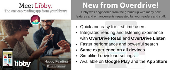 Libby from Overdrive is the new one tap reading app!